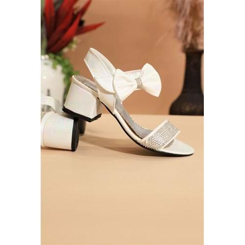 Kidessa 1027 Kız Çocuk Kalın Topuklu Ayakkabı